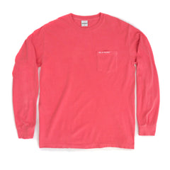 Slim Text Logo Long Sleeve W/ Pocket