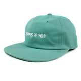 Tossed up text logo hat