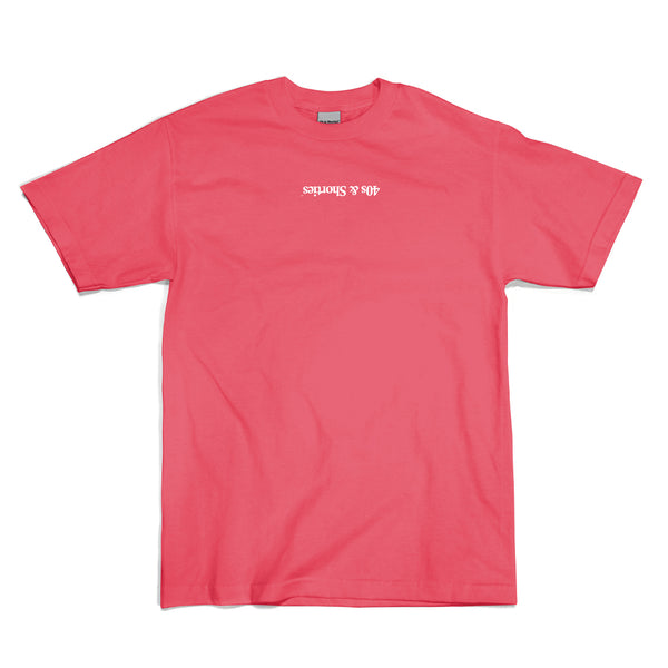 Tossed up text logo tee