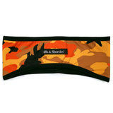 Orange Camo Ear Warmer (Reversible)