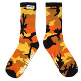 Orange Camo Stash Socks