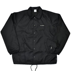 Text Logo Embroidery Coaches Jacket