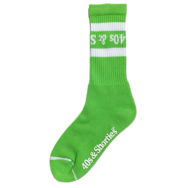 Tossed up text logo socks