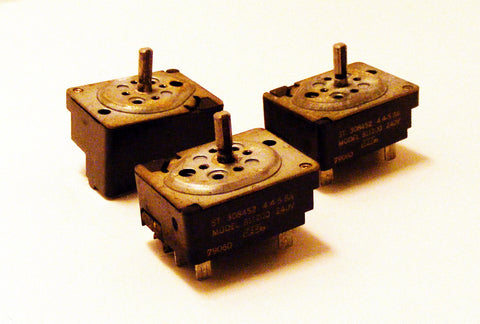 "308452 Whirlpool Range 6"" Burner Switch Set of Three"