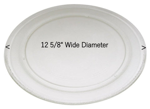 "Sharp Microwave 12 5/8"" Glass Turntable Tray Plate NTNTA117WREZ"