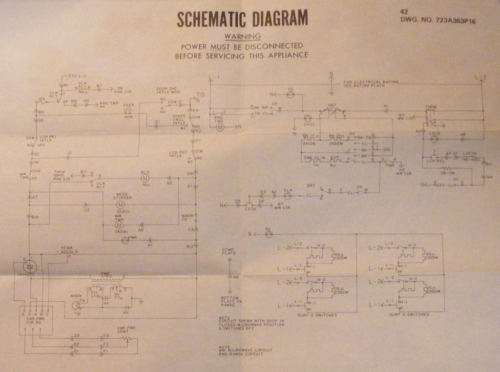 Ge Microwave Wiring Diagram - Schematic And Wiring Diagrams on