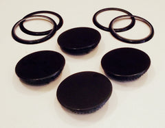 7504P007-60 7504P005-60 2014F001-00 Maytag Range Black Burner Cap with Rings Set