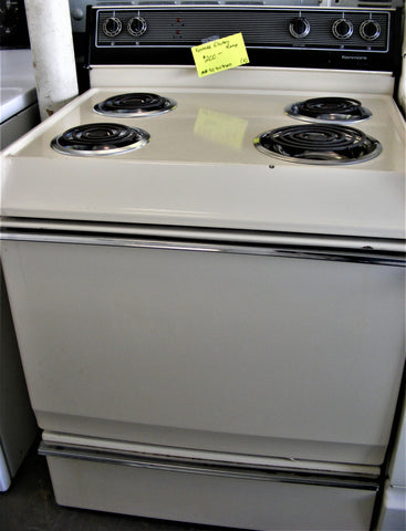 Used Reconditioned Kenmore Electric Almond Range