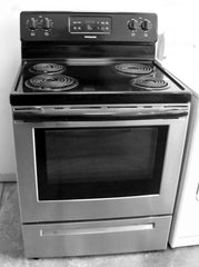 Used Reconditioned Frigidaire Black SS Electric Range