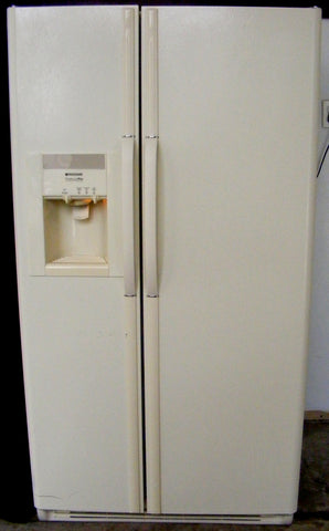 Used Reconditioned Frigidaire Bisque Side by Side Refrigerator