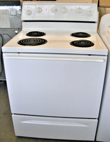 Used Reconditioned Whirlpool White Super Capacity 465 Electric Range