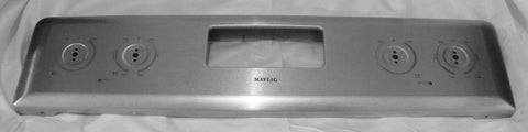 W10225489 Maytag Range Stainless Steel Back Guard Control Panel