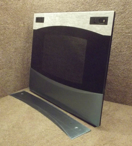WB57t10338 GE Range SS Black Outer Oven Door Glass with Panel