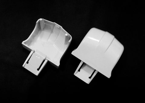 WR2X9162 GE Refrigerator Door Trim End Cap Set - Almond