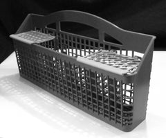 gray silverware basket