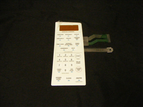 WB27X10762 GE Microwave NEW White Keypad Panel
