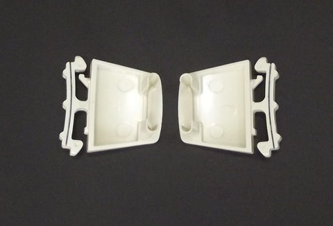 WR2X6883 WR2X6882 GE Freezer Front Shelf End Caps Set of Two