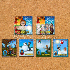 ASL-English Bilingual-Bicultural Season Cards