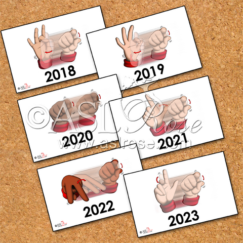 Calendar Cards: ASL-English Bilingual-Bicultural Year