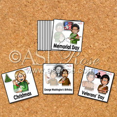 ASL-English Bilingual-Bicultural Federal Holiday Cards