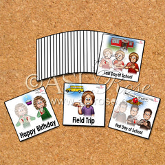 ASL-English Bilingual-Bicultural School Event Cards