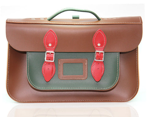 Classic Black, British Green and Pillarbox Briefcase 15