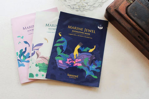 SHANGPREE: Marine Jewel Facial Masks (Mascarillas faciales)