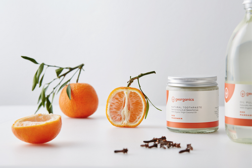 Georganics: Natural Toothpaste - Red Mandarin (Dentífrico natural remineralizante de mandarina)