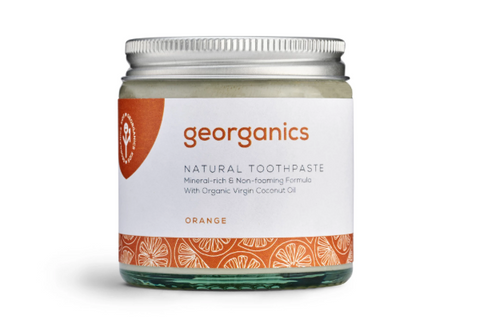 Georganics: Natural Toothpaste - Red Mandarin/Orange (Dentífrico natural remineralizante de mandarina)