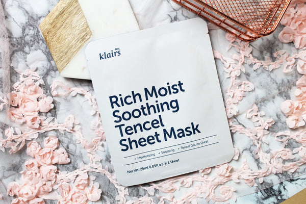 Klairs: Rich Moist Soothing Tencel Sheet Mask (Mascarilla hidratante)