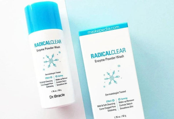 Dr. Oracle: RADICALCLEAR Enzyme Powder Wash (Limpiador y Exfoliante en polvo)