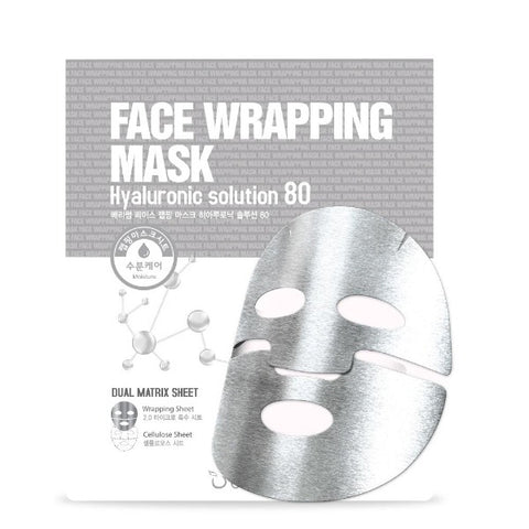 Berrisom: Hyaluronic Solution 80 Face Wrapping Mask (Mascarilla facial de doble capa)