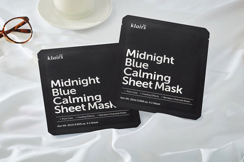 Klairs: Midnight Blue Calming Sheet Mask (Mascarilla calmante)