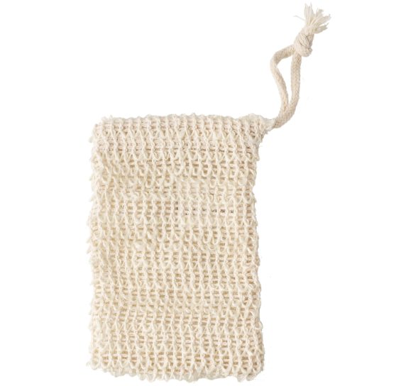 Avril: Soap Net in Sisal (Red para pastilla de jabón)