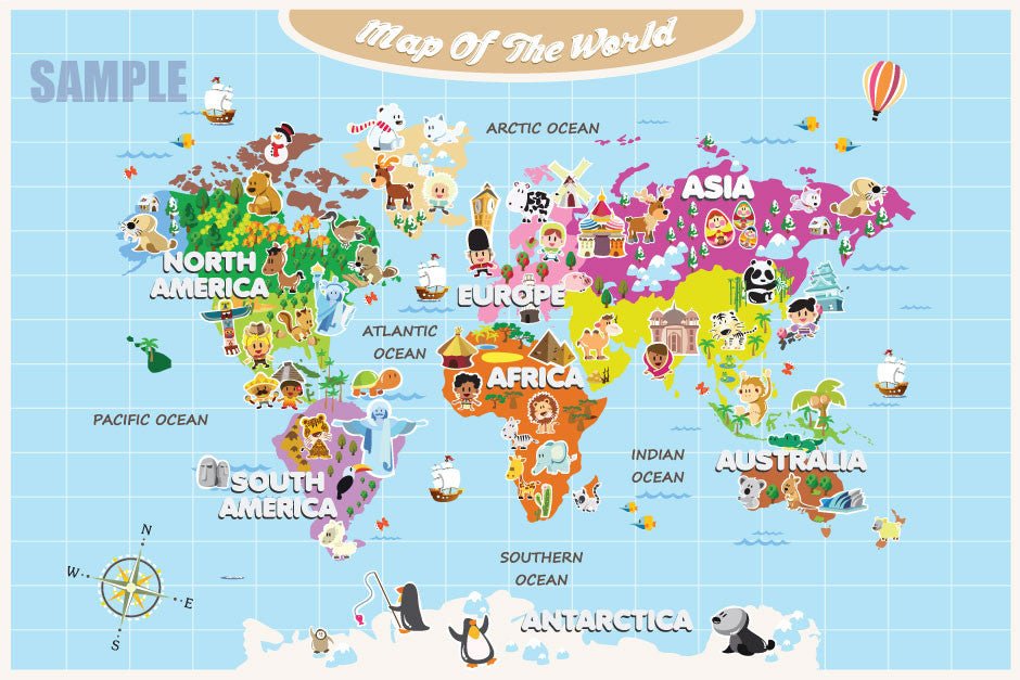 reviews for world map for kids cute and colorful Images ...