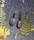 Simple Labradorite Earrings