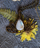 Moonstone Lotus Pendant