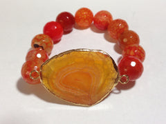Amber and Orange Colored Bracelet