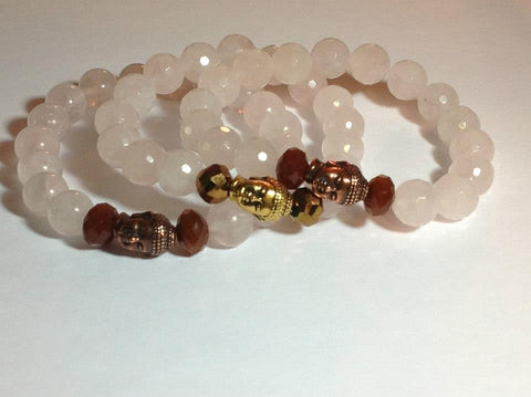 Rose Quartz Stretch Bracelets