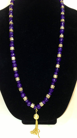 Purple and Gold Necklace