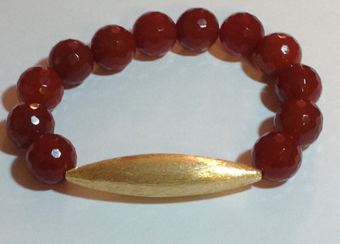 Burnt Orange Carnelian Stretch Bracelet