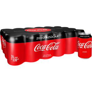 Coca-Cola Zero Azúcar refresco de cola pack 24 lata 33 cl