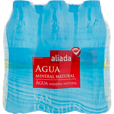 Aliada agua mineral natural pack 6 botellas 50 cl