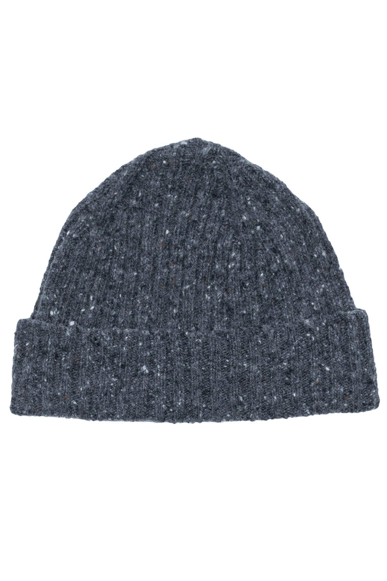 An ivy Huer Charcoal Donegal Beanie