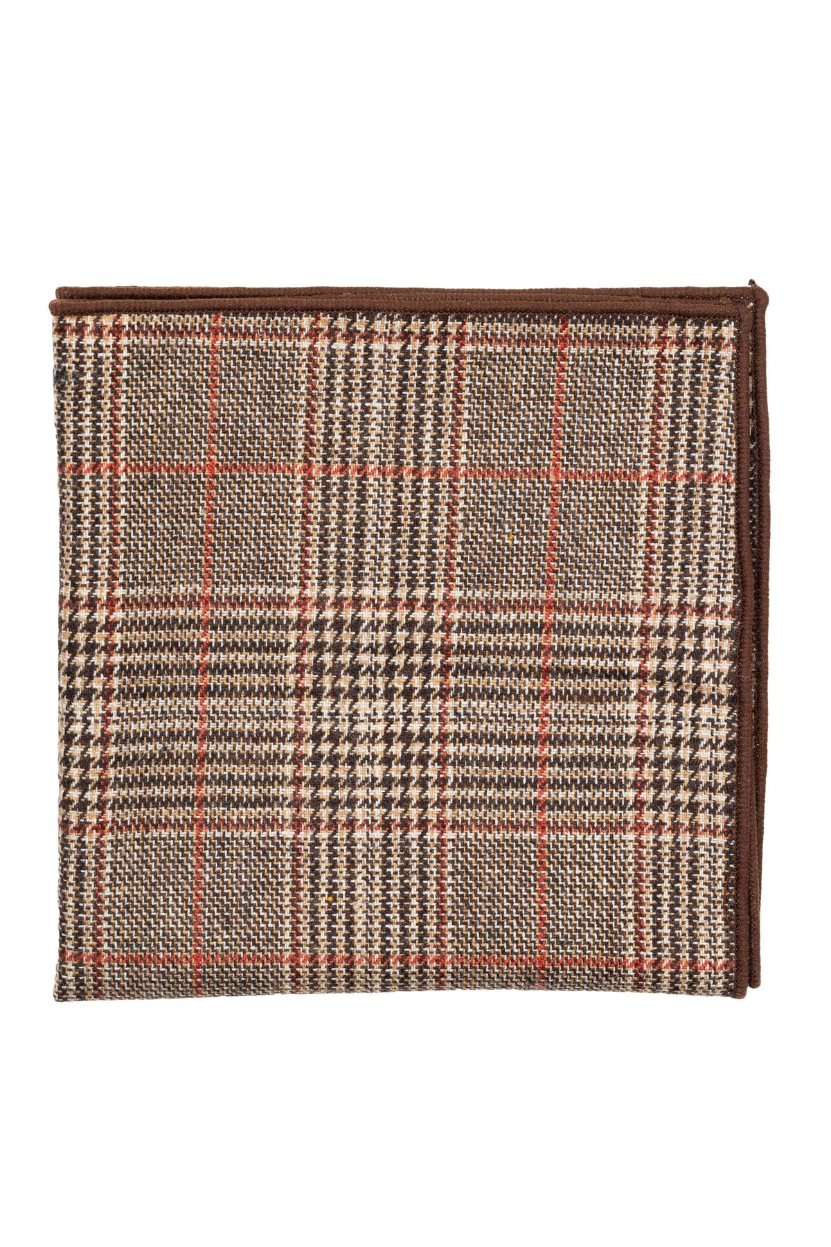 An ivy Pocket square Brown Prince Wool Pocket