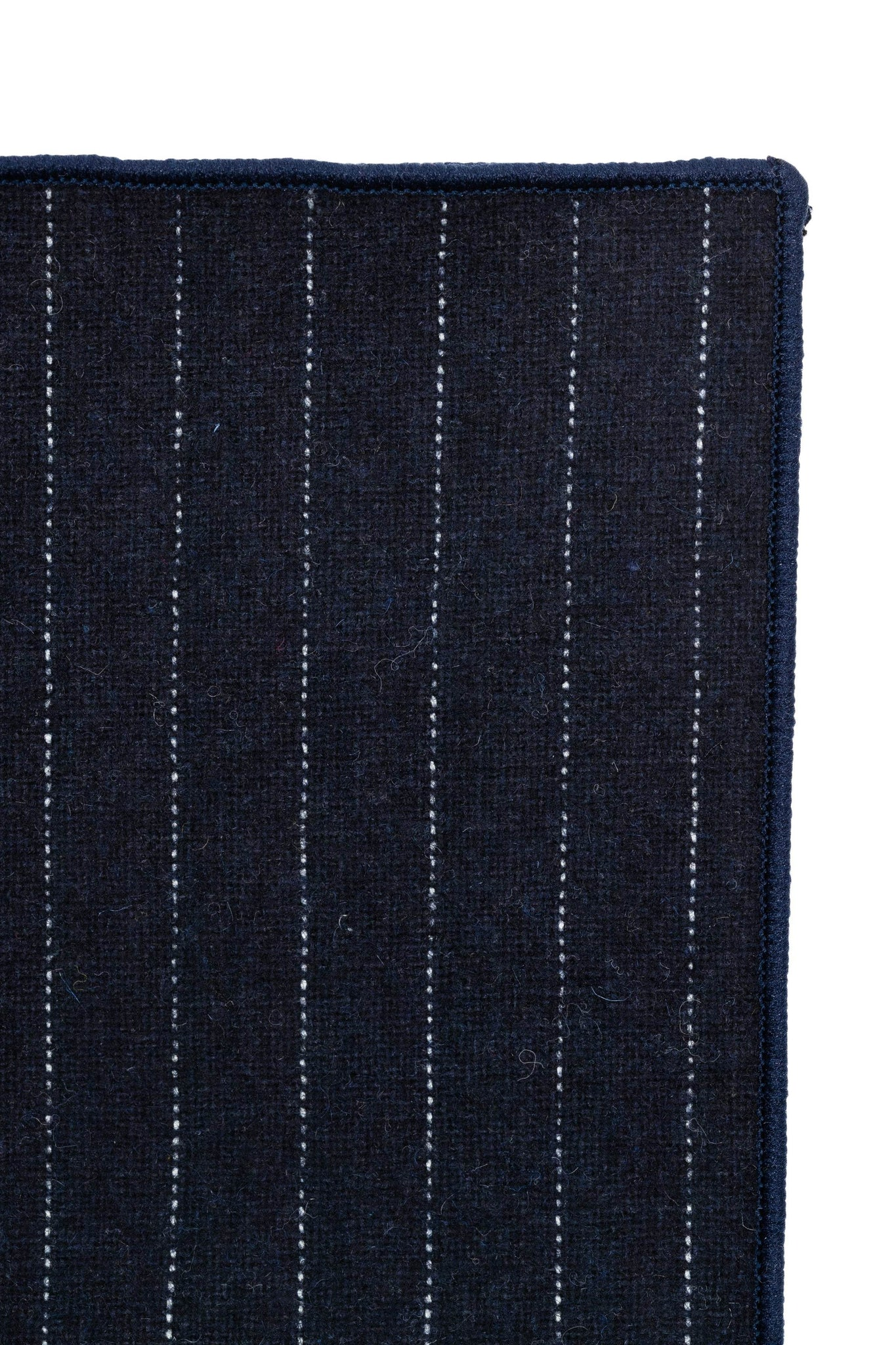An ivy Pocket square Navy Pinstripe Wool Pocket