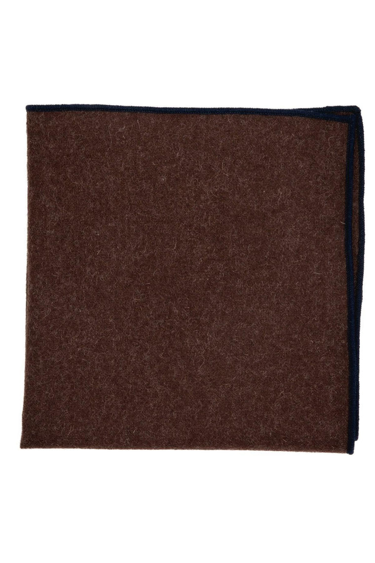An ivy Pocket square The Brown Wool Pocket