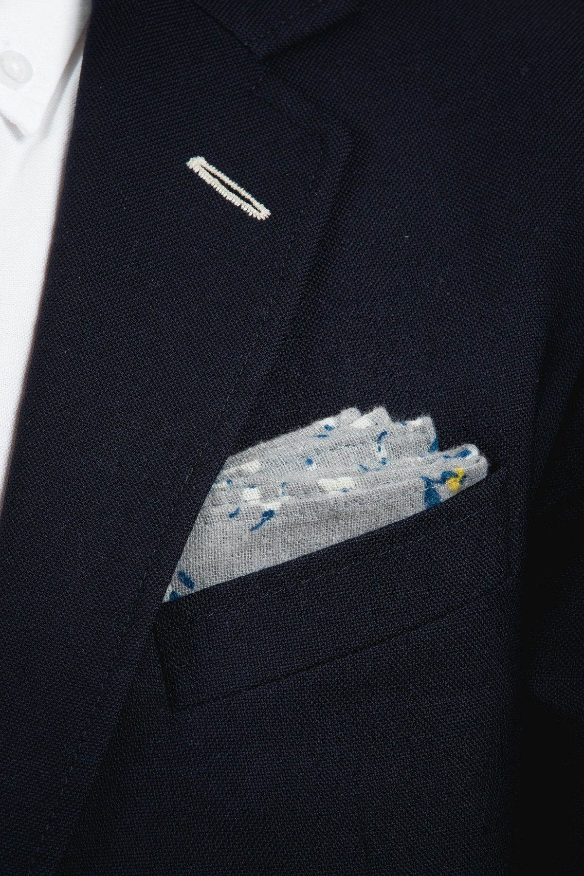 An ivy Pocket square The Grey Flower