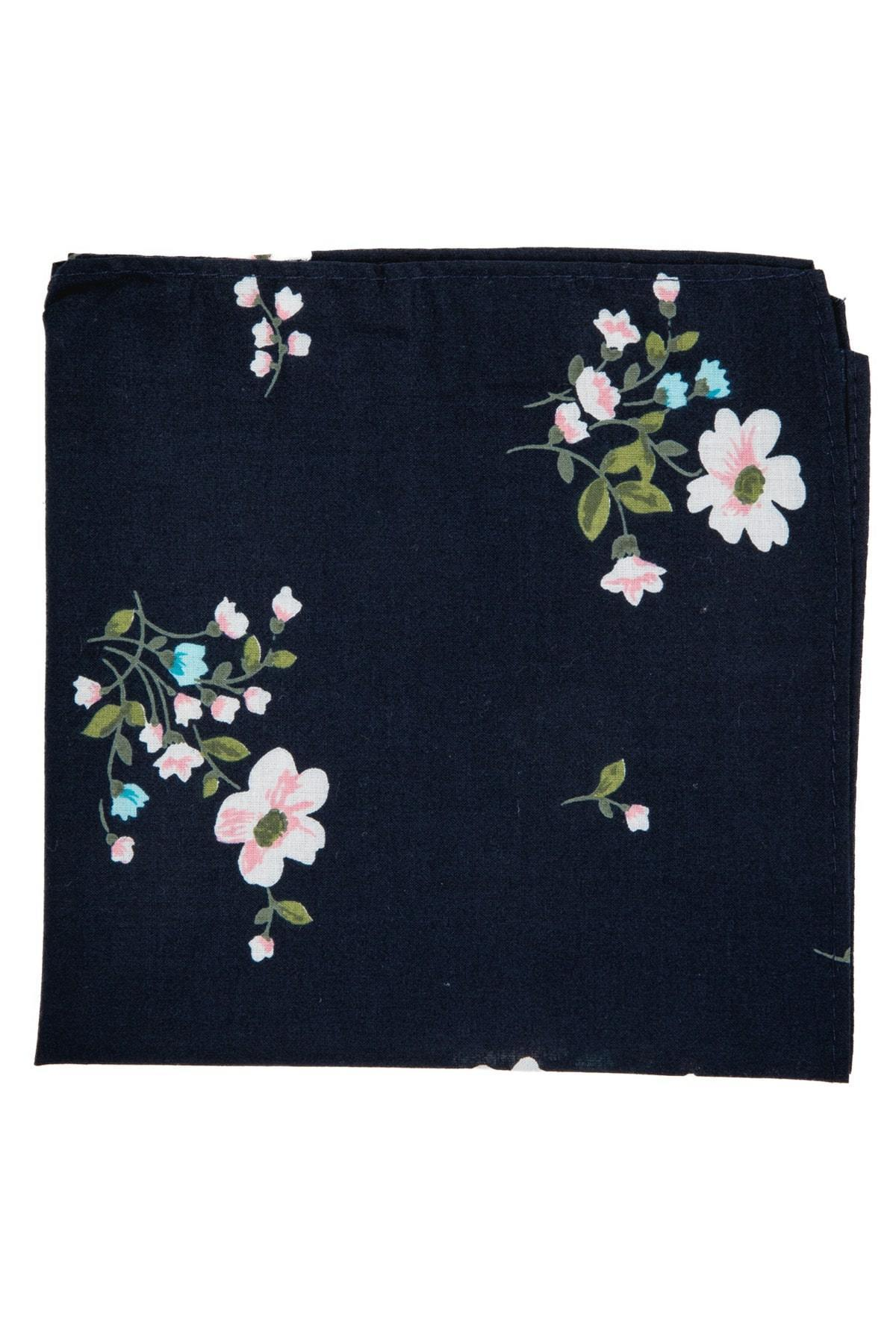 An ivy Pocket square The Navy Flower