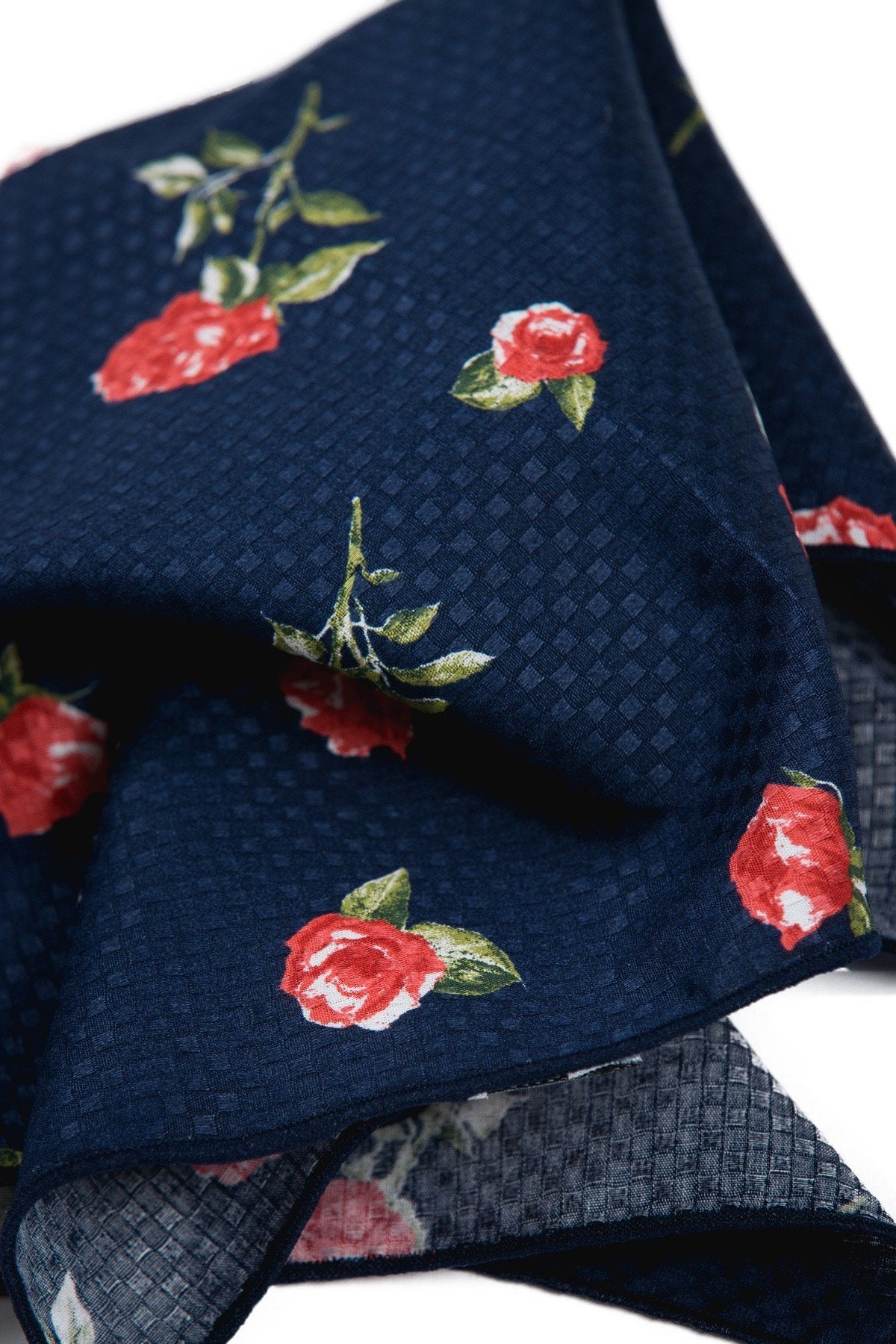 An ivy Pocket square The Navy Rose